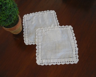 Small Square Lace Doilies