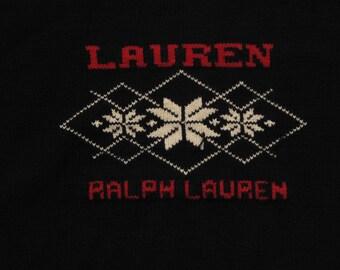 women's Ralph Lauren snow flake sweater