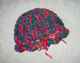 Wintry Multi Colored  Little Pixie Hats for Toddlers 12 Months to 3 Years
