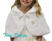 White Child faux fur cape with matching muff - 2 sets for toridavis11