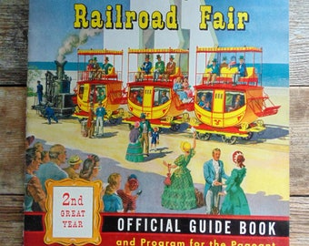 CHICAGO. RAILROAD FAIR. 1949. 2nd Year. Official Guide Book. Pageant Program. 1940s Railroad. Train Collectible. book