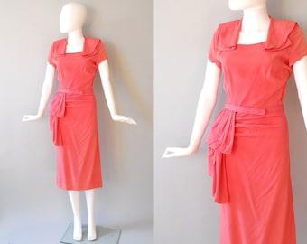 1940s Rayon Dress / Candy Dress / 40s