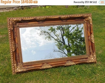 ON SALE ORNATE Mirror, Long Mirror, Baroque Mirror, Dressing Mirror, Buffett Mirror, Sofa Mirror, Extra Large Mirror,Shown in Faux Finish or