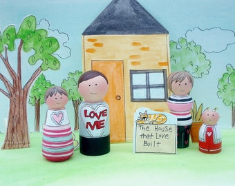 "Peg Family, Pegdolls ""Love""- Ready to Ship"