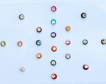 Colorful Dots Bindi Crystal  Body Sticker Nose Eye Forehead Belly