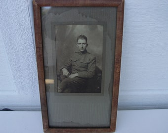 World War I Photograph Officer Corporal Lance Asa P. Power A.E.F WWI Sepia