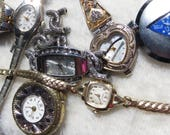 Broken Watches for Upcycling Steampunk Crafts Lot of Watches for Assemblage Jewelry Steampunk Crafts Nine Broken Watches