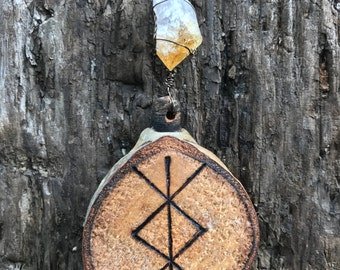 Bind Rune Home Protection Hanging (Heathen Asatru Norse Viking Othala Odal)