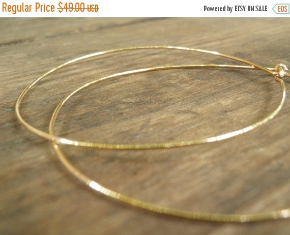 CHRISTMAS SALE Huge XXXL Gold Hoops 7 cm / 3 inch Earrings, Simple Xxxl Large Earrings, Bohemian Jewelry, Hand Crafted Gold Filled Modern Cl