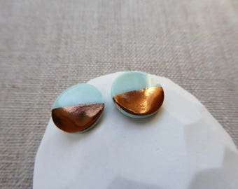Mint Half Copper Round Disc Earring since2012