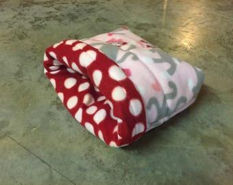 PREMADE Reversible Fleece xl Burrow Bag for Guinea Pig Hedgehog Rat Small Animals
