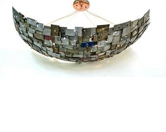"STUDIO - ""Salmagundi"" -  Wine Barrel Ring Light -100% Recycled"