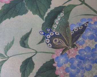 Chinese Vintage Floral Watercolor on Silk
