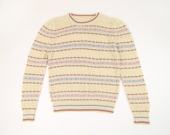 VINTAGE Pointelle Knit Top 1980s Sweater