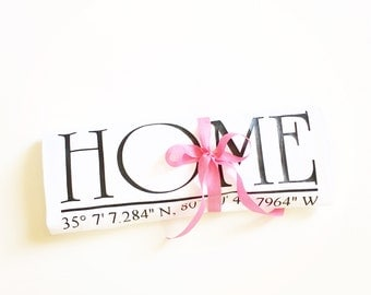 longitude and latitude tea towel, coordinates tea towel, gift for mom, personalized gift, home tea towel, hostess gift, under 20