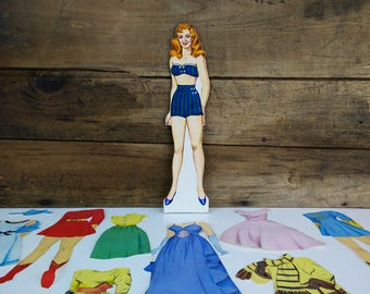 Vintage Magic Stay-On Doll paper doll with clothes