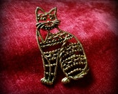 Filigree Cat Brooch