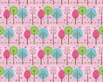 Summer Song Trees in Pink by Riley Blake - 1 Yard