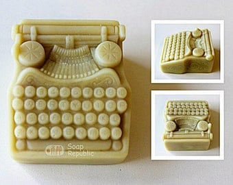 SoapRepublic Vintage Typing Machine Silicone Soap Mold
