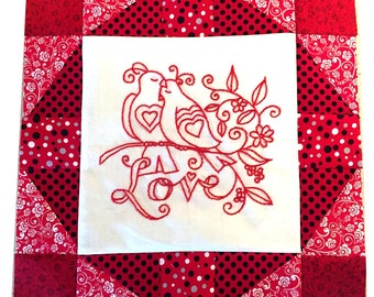 quilt pattern, quilting, embroidery, pattern, love, sewing, redwork