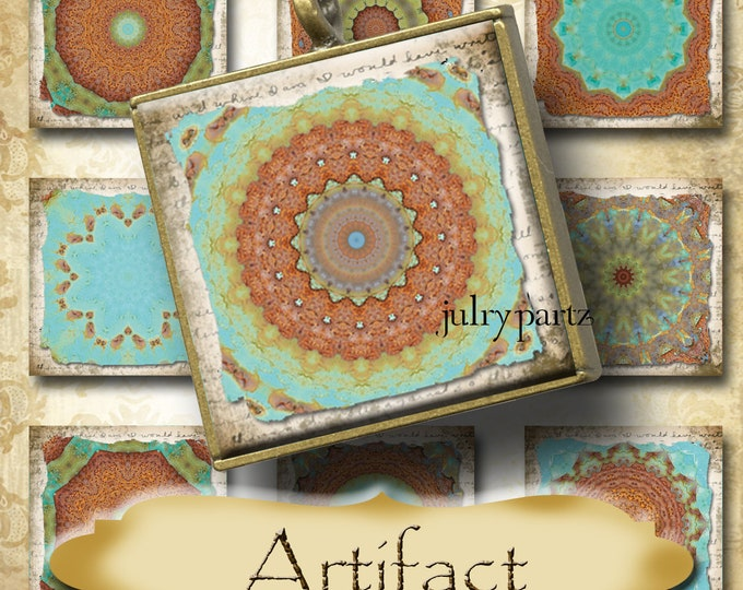 ARTIFACT•1x1 Rustic Square Images•Printable Digital Images•Cards•Gift Tags•Stickers•Magnets•Digital Collage Sheet