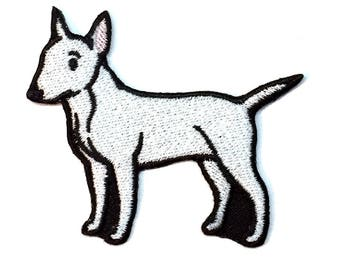 Bull Terrier Iron on Patch No Name