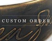 Custom 2-Sided Bronze Story Cuff