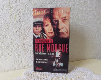 The Murders in the Rue Morgue VHS Tape, 1990.  Edgar Allen Poe horror film