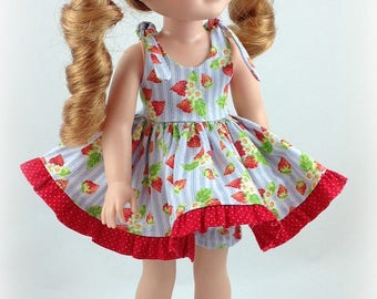 14.5 inch Doll Clothes -Sundress fits Dolls Like Wellie wishers