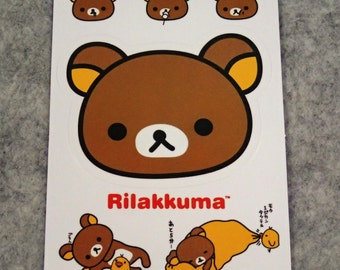 Mixed Cute PVC Cute Rilakkuma Stickers - R014