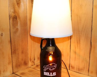Buffalo Bills Football Beer Growler Lamp with Night Light with shade