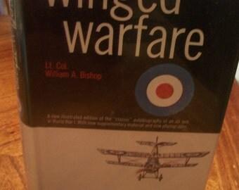 Winged Warfare By Lt. Col. William A. Bishop 1967 HB Air Combat Classic