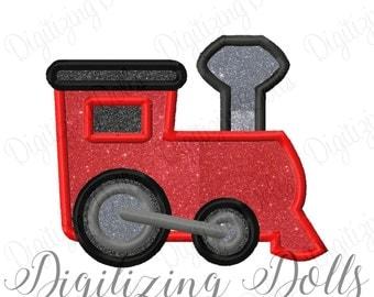 Train Applique Machine Embroidery Design 4x4 5x7 6x10 INSTANT DOWNLOAD