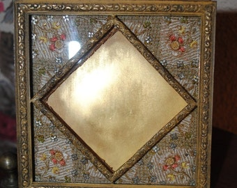 Antique French PHOTOFRAME Ormolù metallic lace Paris apartment Chic