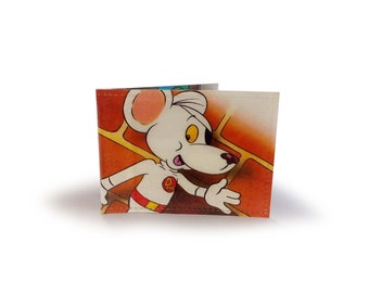 Danger Mouse Oyster Card Holder - Vintage book page in vinyl - for metro, rail, oyster cards
