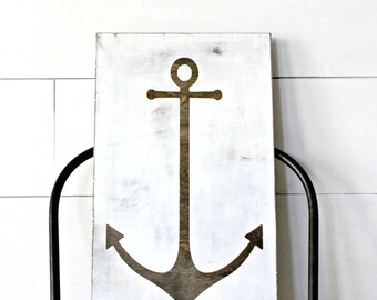 SALE - Hope Anchors the Soul - Wood Sign - Rustic - Distressed