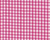 "Robert Kaufman - Carolina 1/8"" Gingham in Fuchsia P-5689-3 hot pink white checkered - cotton sewing quilting fabric - choose your cut"