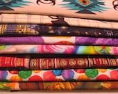 8 REMNANTS--Quilt Cotton Fabric Grab Bag #1