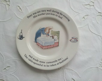 Peter Rabbit Wedgewood China Plate, Nursery Decor, Beatrix Potter Plate