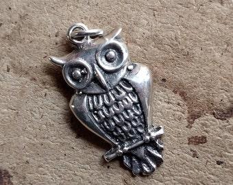 Sterling Owl Pendant