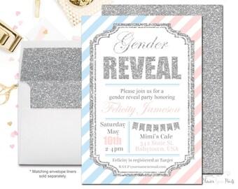Gender Reveal Invitation Printable or Printed - Gender Reveal Baby Shower - Gender Reveal Party Invitation - Gender Reveal Invite - Digital