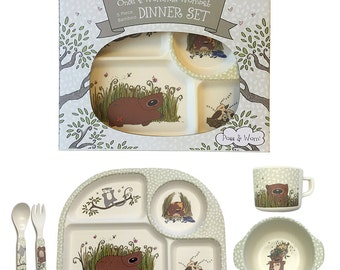 Children's 5 pc Dinner Set Bamboo Fibre Once A Wommie