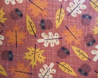 Fat Quarter - Fall Leaves and Acorns