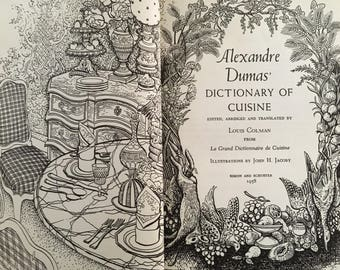Alexandre dumas etsy for Alexander dumas dictionary of cuisine