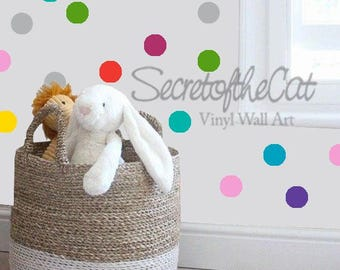 Nursery Wall Decal - Wall Decals Nursery - Confetti decals - dots decal - dots - baby gift