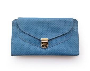 Women's Leather wallet, Light blue wallet, Women's wallet, Handmade wallet , blue wallet