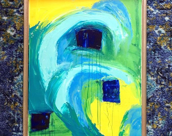 "Original Anstract on Canvas 18"" x 24"""