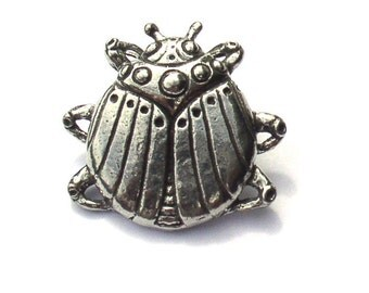 Scarab Pewter Buttons Green Girl Studios