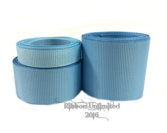10 Yards WHOLESALE Solid Light Blue grosgrain ribbon LOW SHIPPING Cost