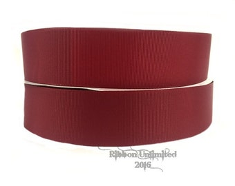 "10 Yards WHOLESALE 1.5"" Solid Maroon grosgrain ribbon LOW SHIPPING Cost"